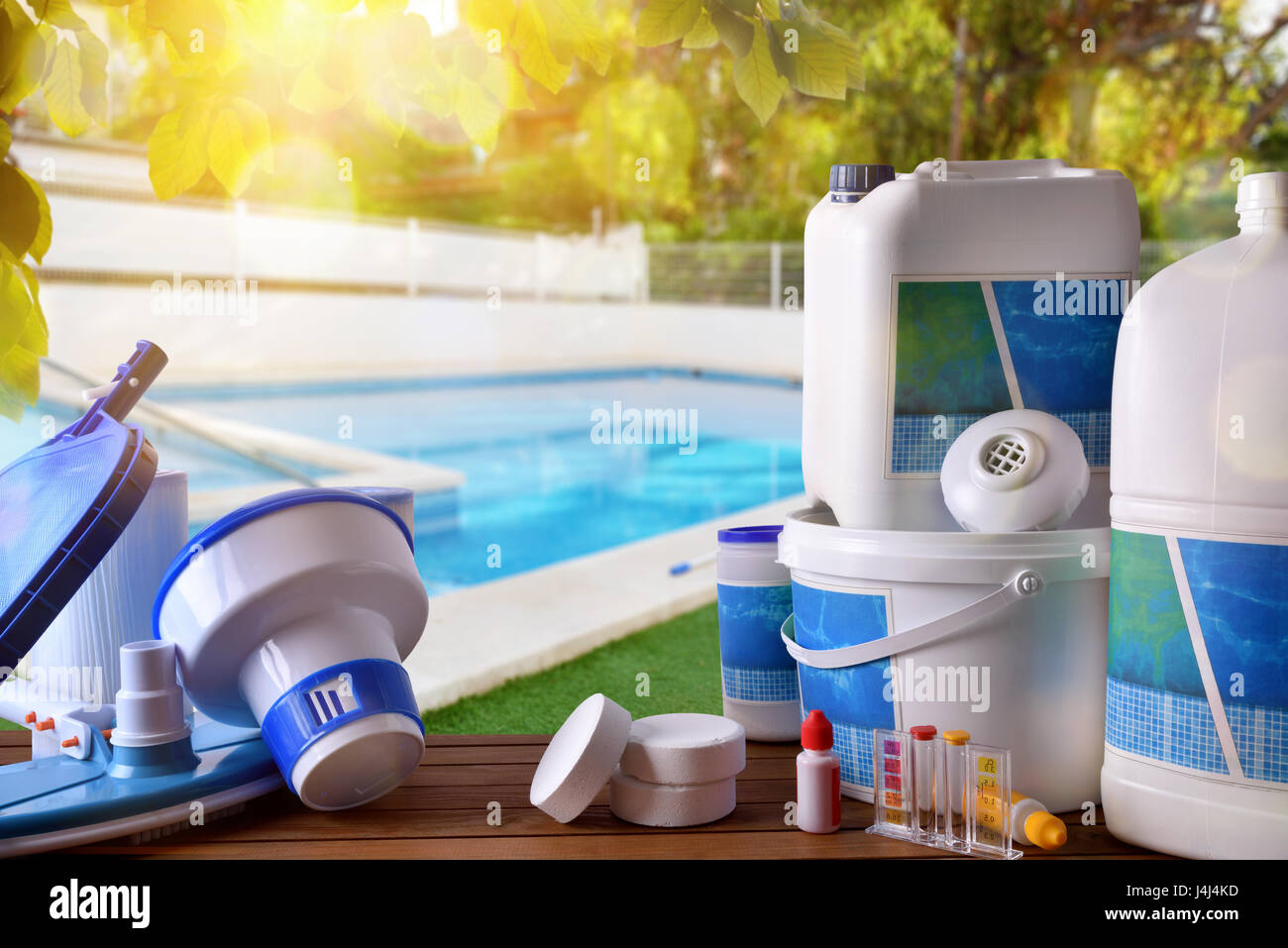 Swimming pool service and equipment with chemical cleaning ...