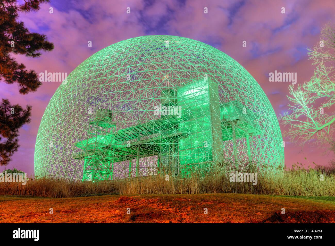 Biosphere by Buckminster Fuller, Montreal, Quebec, Canada - Stock Image