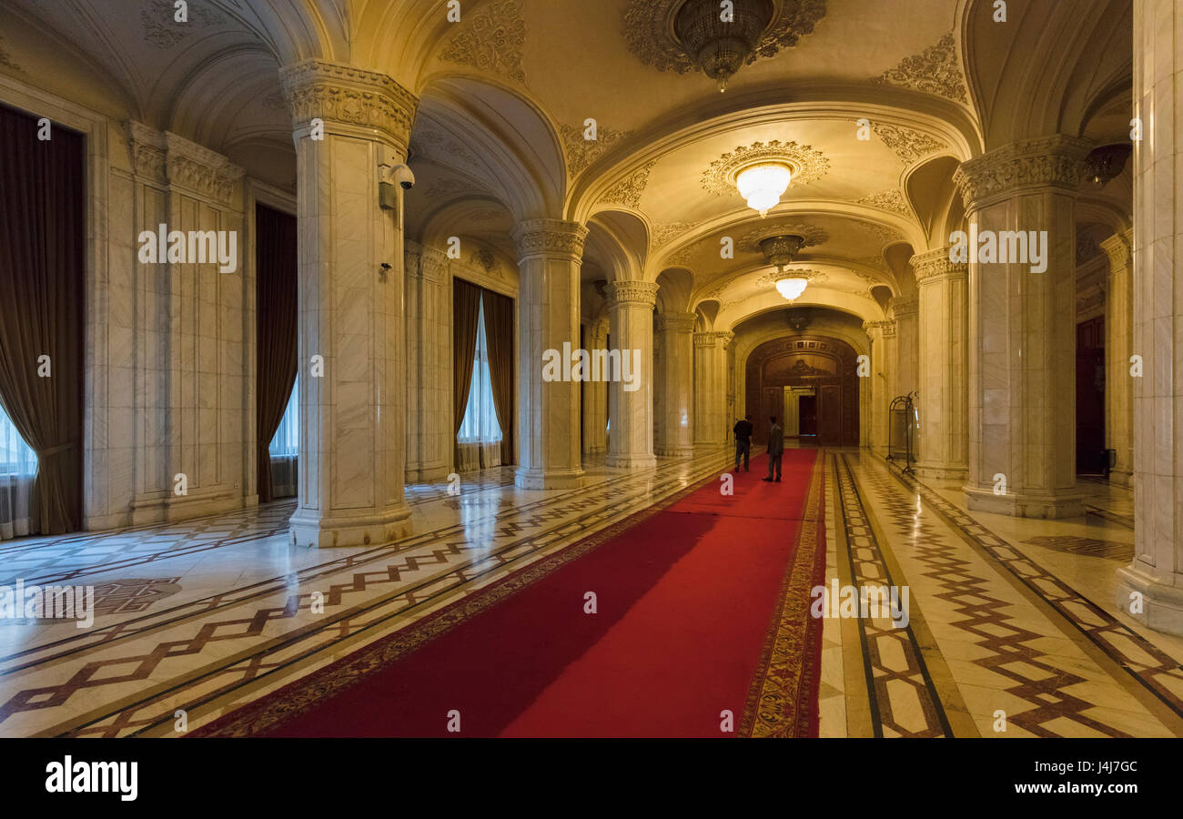 Stock Photo - Interior of the Palace of the Parliament in Bucharest, the capital of Romania Stock Photo