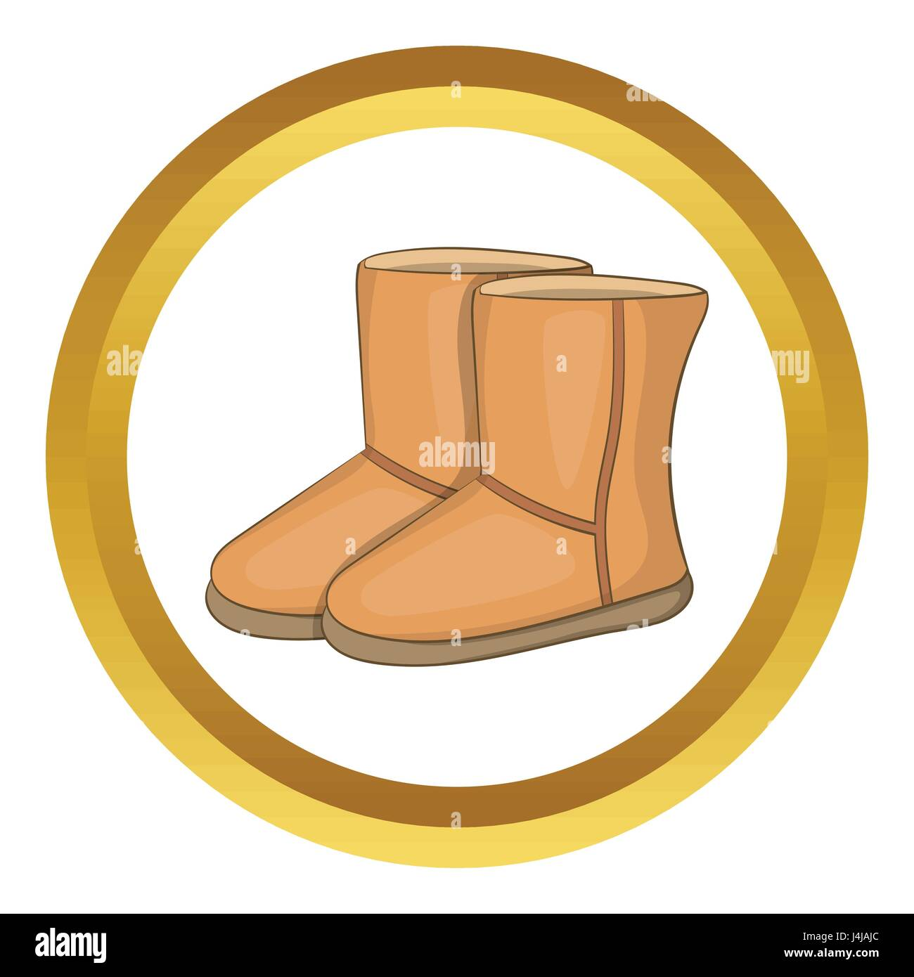 c0148b6c21 Winter ugg boots vector icon Stock Vector Art & Illustration, Vector ...