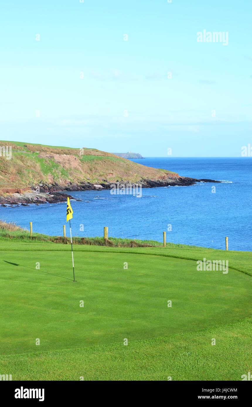 The golf course at Trabolgan in County Cork, Irleland - Stock Image