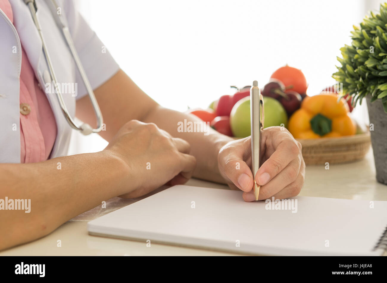 Nutritionists are health care plan for the patient. - Stock Image
