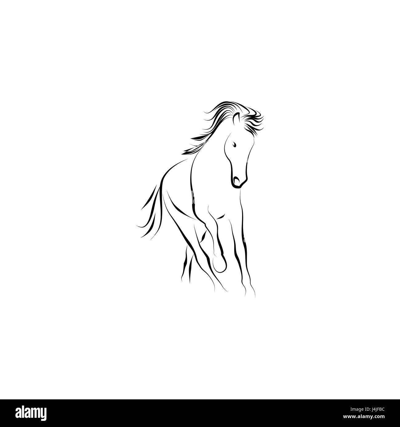 Running horse - Stock Image