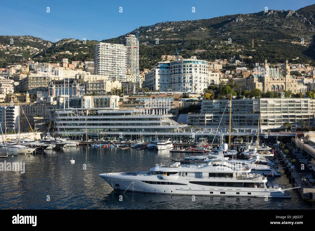 Monaco, Monte Carlo, Port Hercule - Stock Image