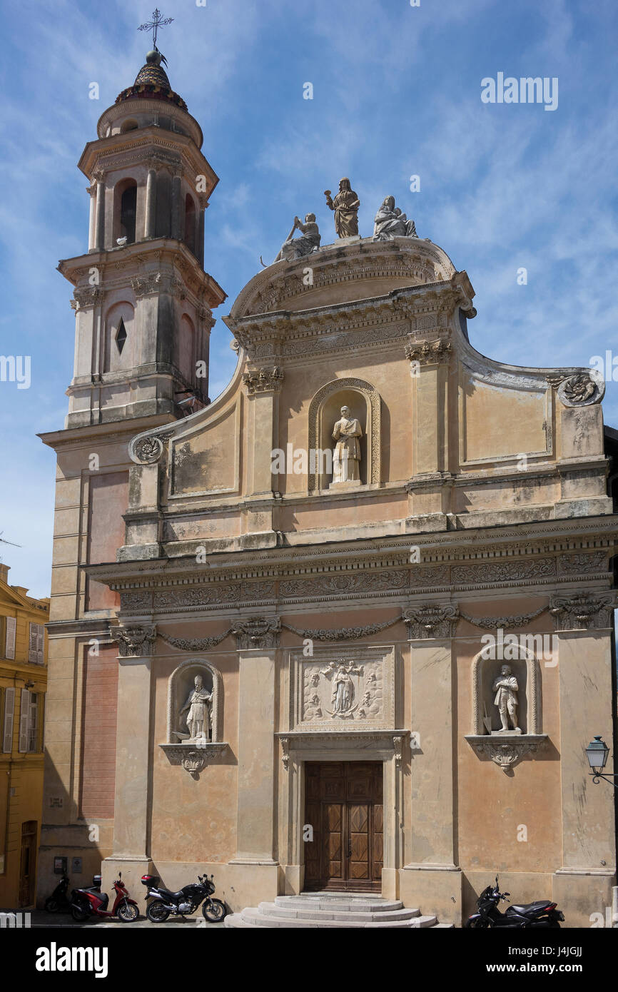 France, Alpes Maritimes, Menton, Penitents Blancs chapel - Stock Image