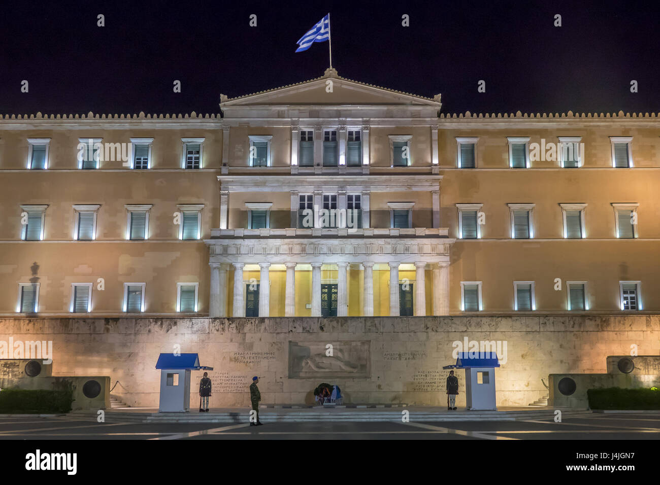 Greece, Athens, Hellenic parliament - Stock Image