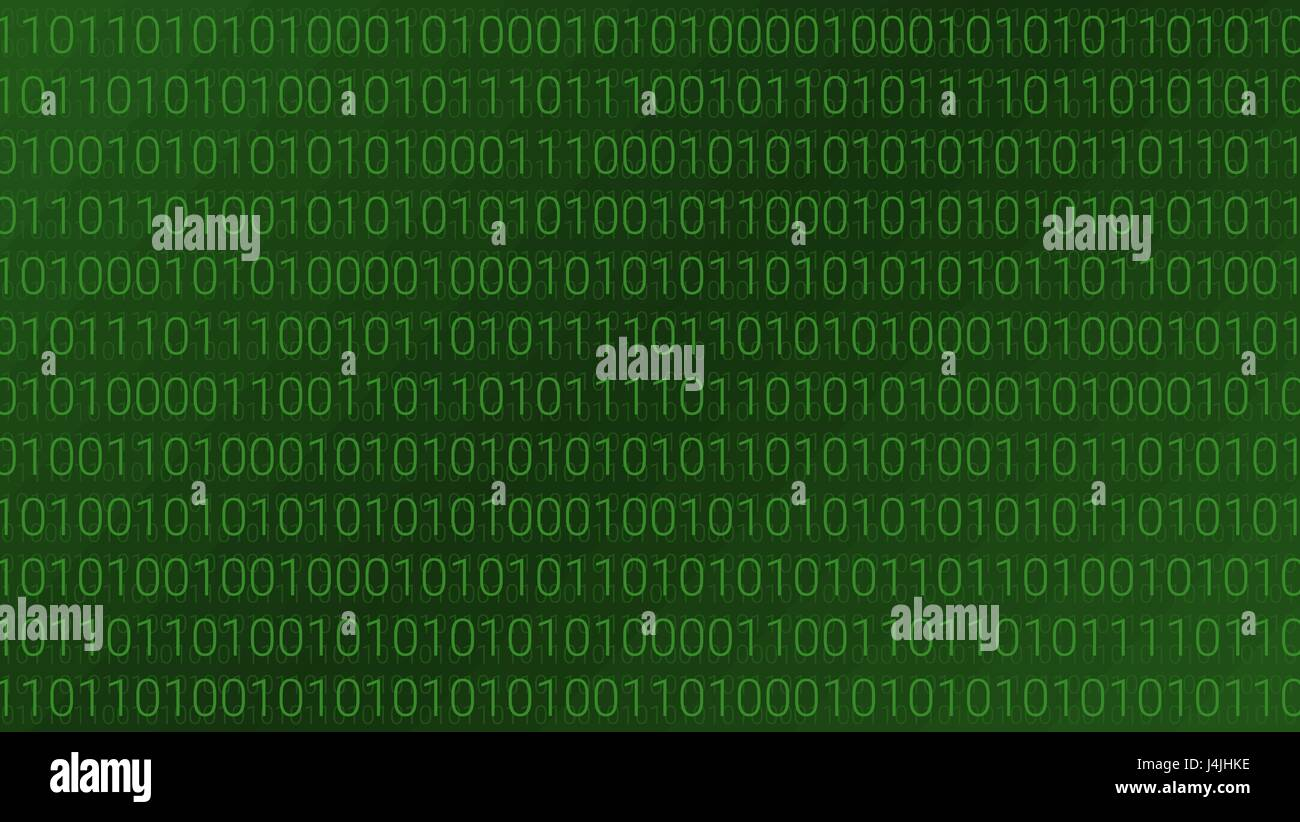 Abstract Technology Background. Binary Computer Code. Vector Illustration - Stock Image