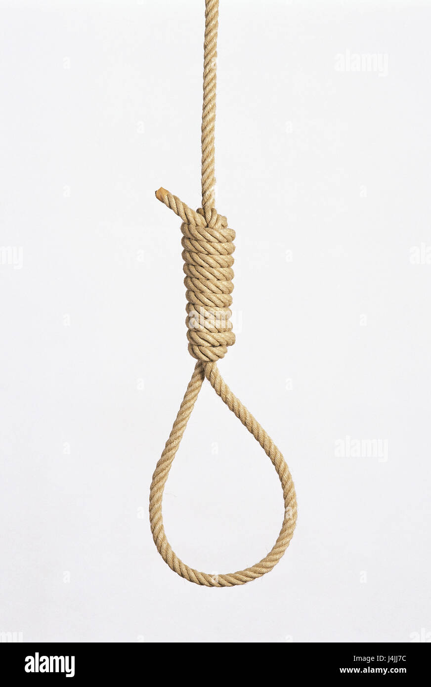 Rope, hangman's loop icon, hopelessness, hopelessness, resignation, Weary of life, suicide, suicide, suicide - Stock Image