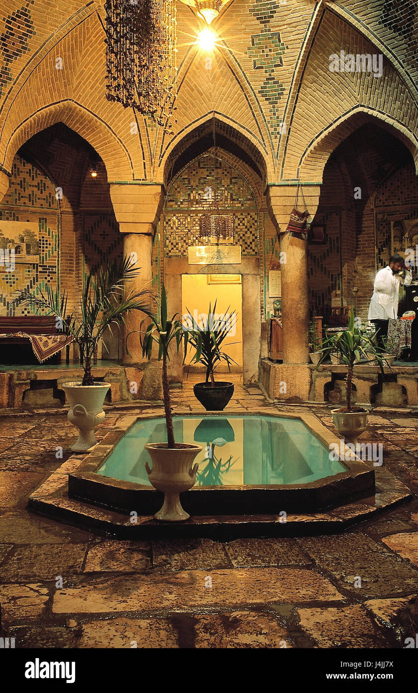 Iran Kerman Teahouse Interior Design Chaikhana Gastronomy Cafe View Inside Water Cymbal