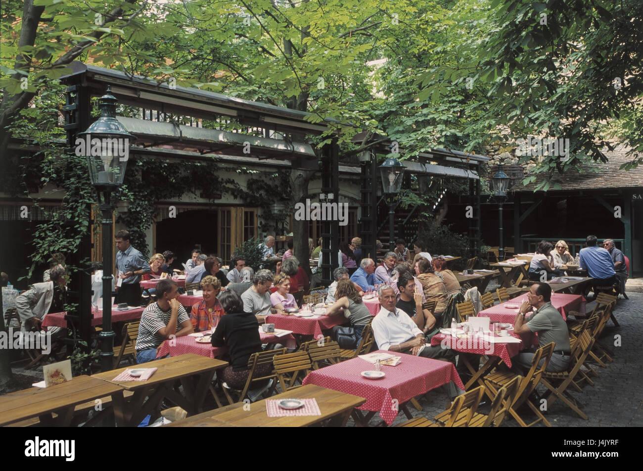 Austria Vienna Grinzing Wine Bar Bar Beer Garden Europe Federal Stock Photo 140558531 Alamy