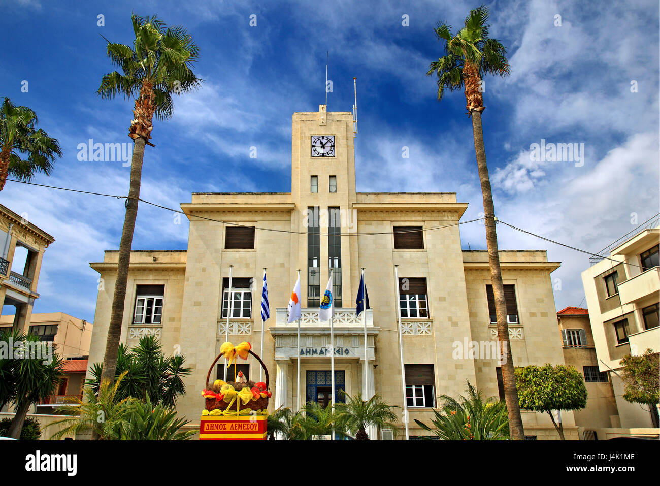 The Town Hall of Limassol ('Lemessos') town, Cyprus. - Stock Image