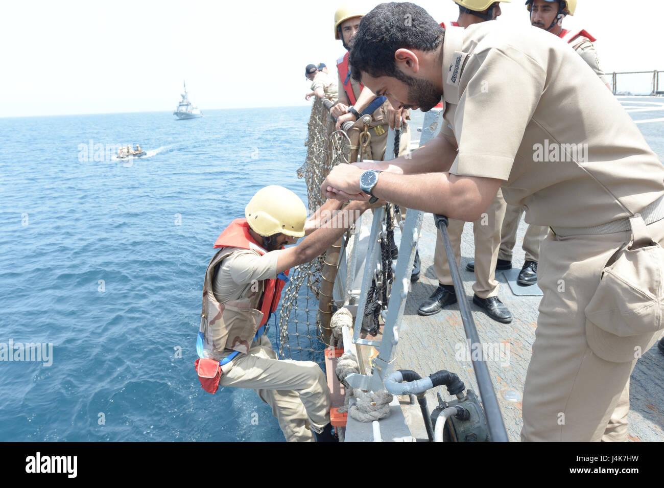 {170503-N-VC432-0139} ARABIAN SEA, Saudi Arabia (May 03, 2017) - A Royal Saudi Navy visit, board, search and seizure Stock Photo