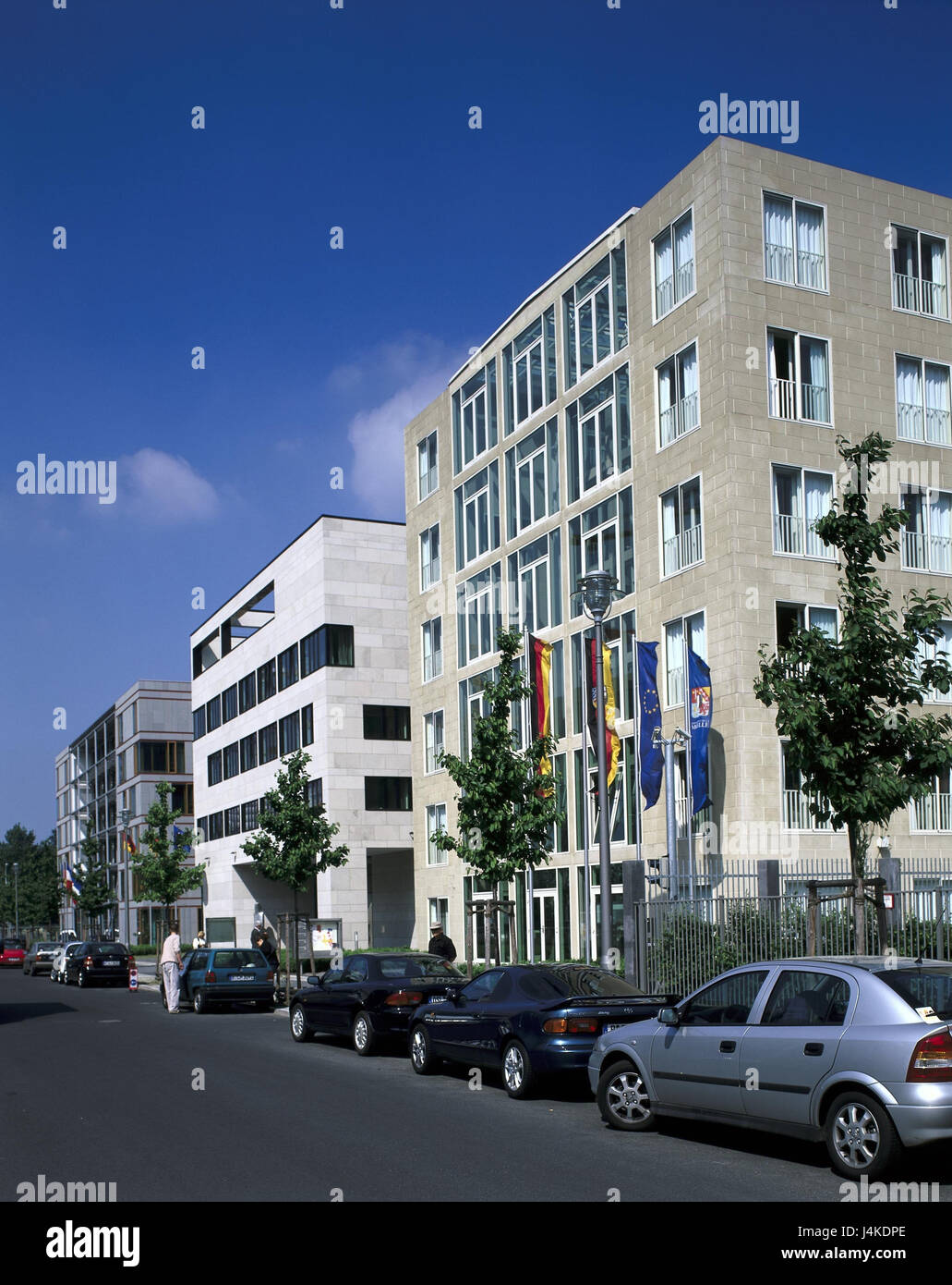Germany, Berlin, middle, in the ministerial gardens, office buildings, land representative offices Europe, capital, - Stock Image