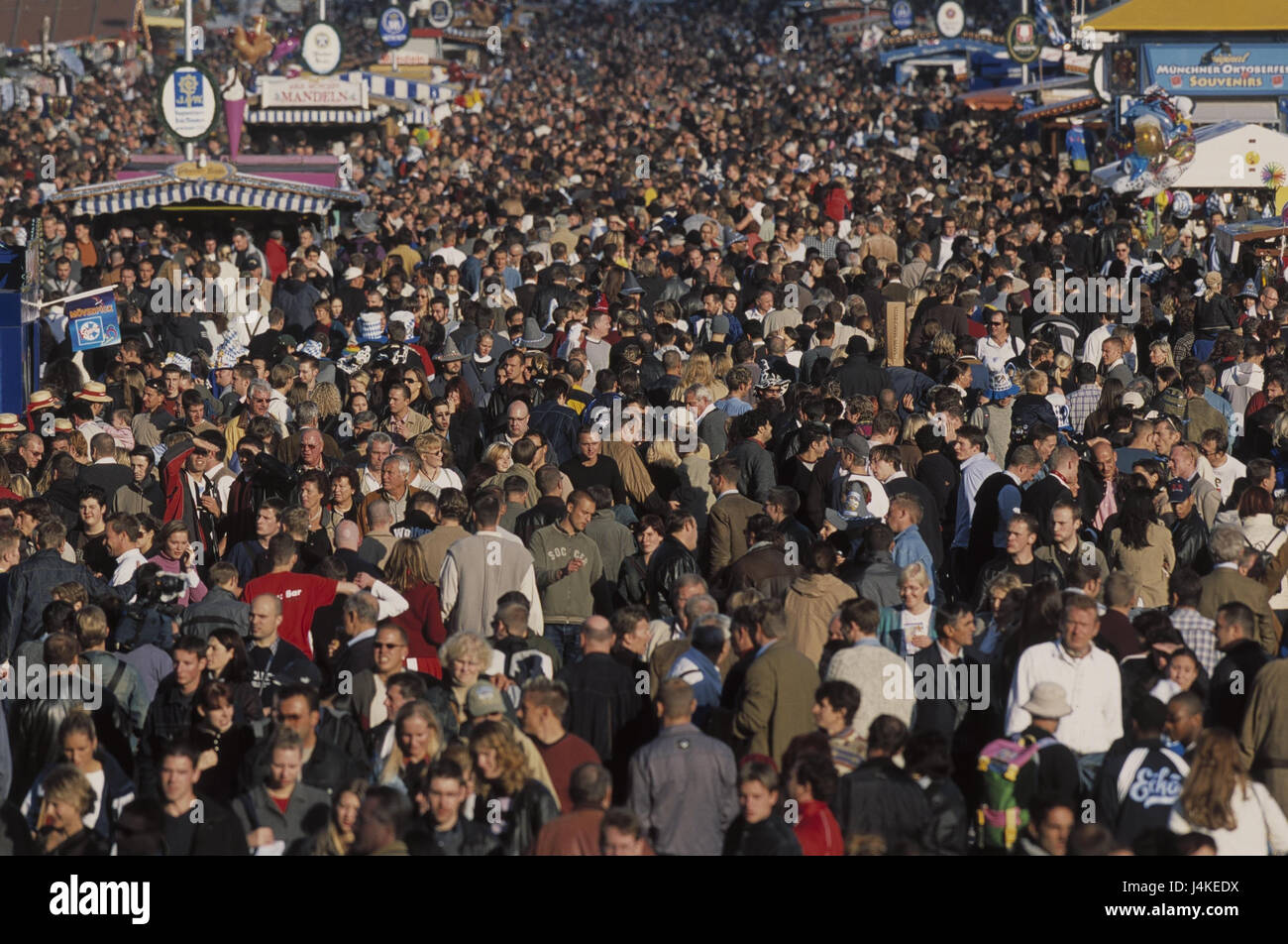 Germany, Bavaria, Munich, October feast, crowd of people Europe, Upper Bavaria, feast, fair, public festival, visitor, - Stock Image