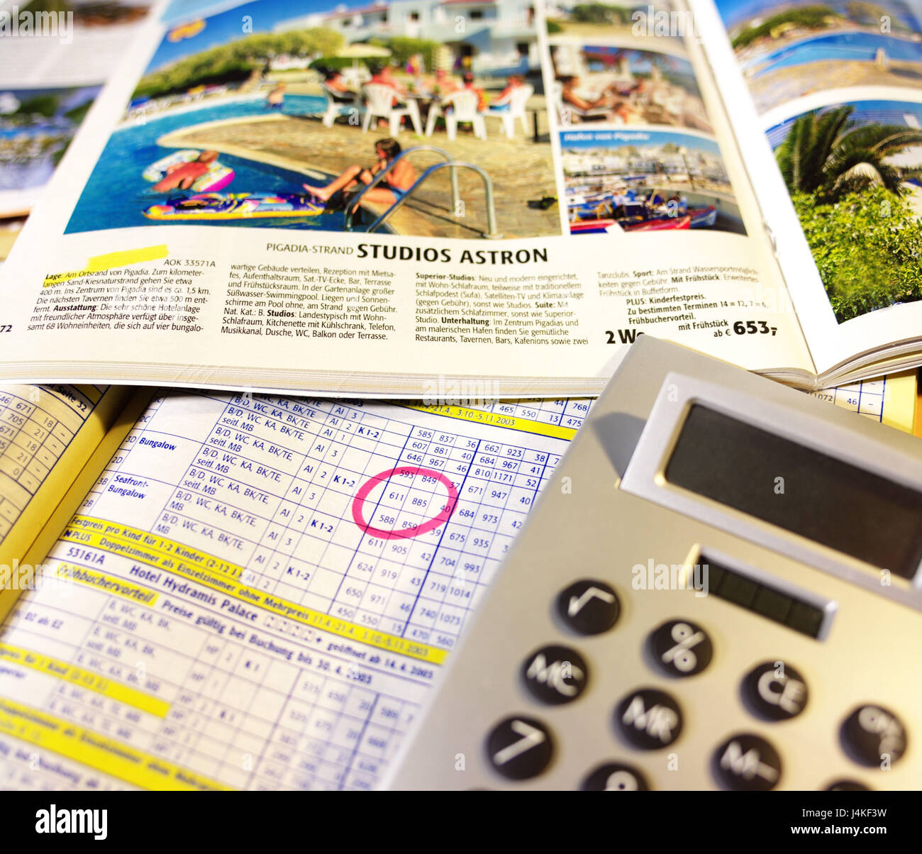 electronic calculators travel catalogues selection icon vacation