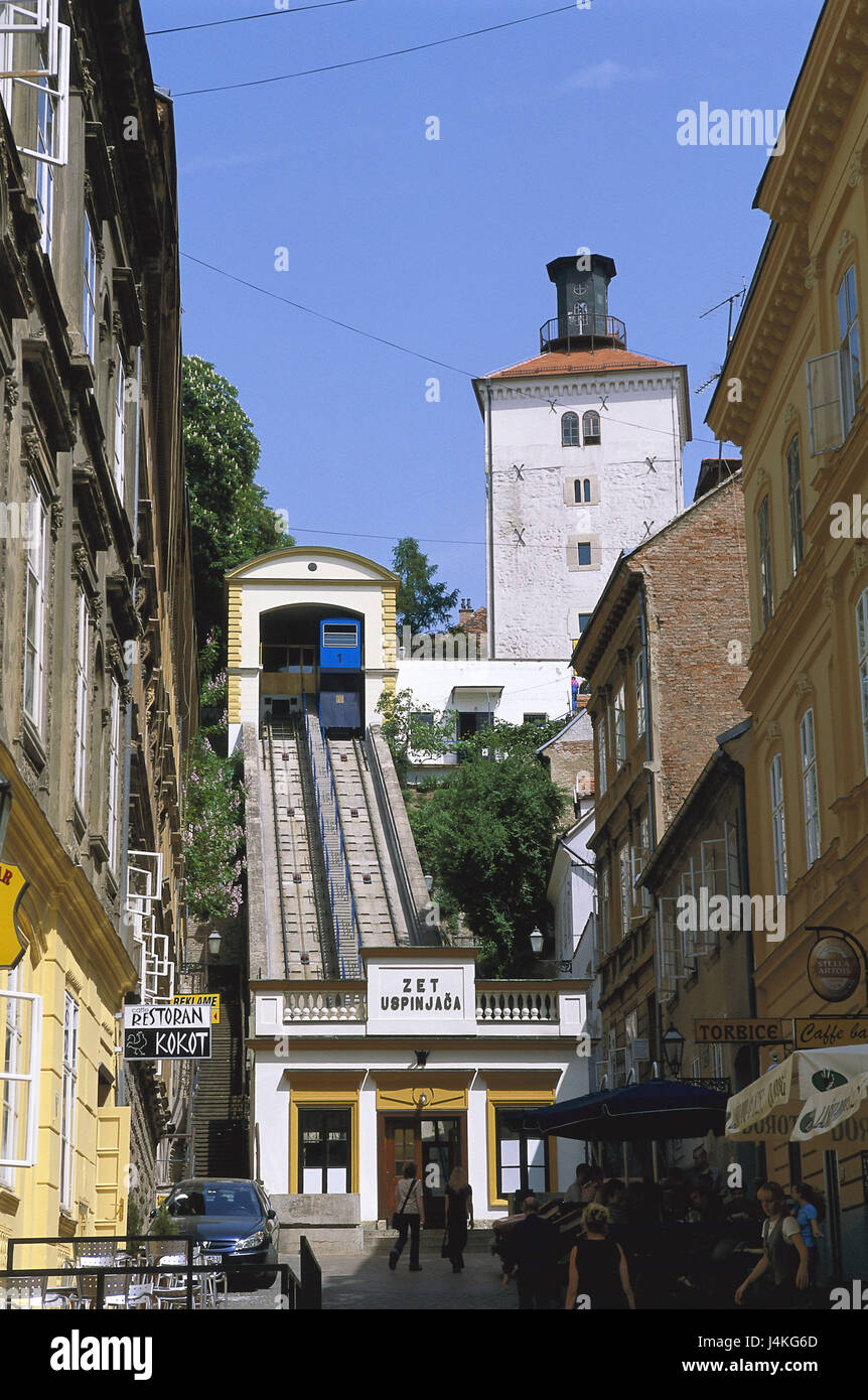 Croatia Zagreb Funicular Railway Zet Uspinjaca Europe Southeast Stock Photo Alamy