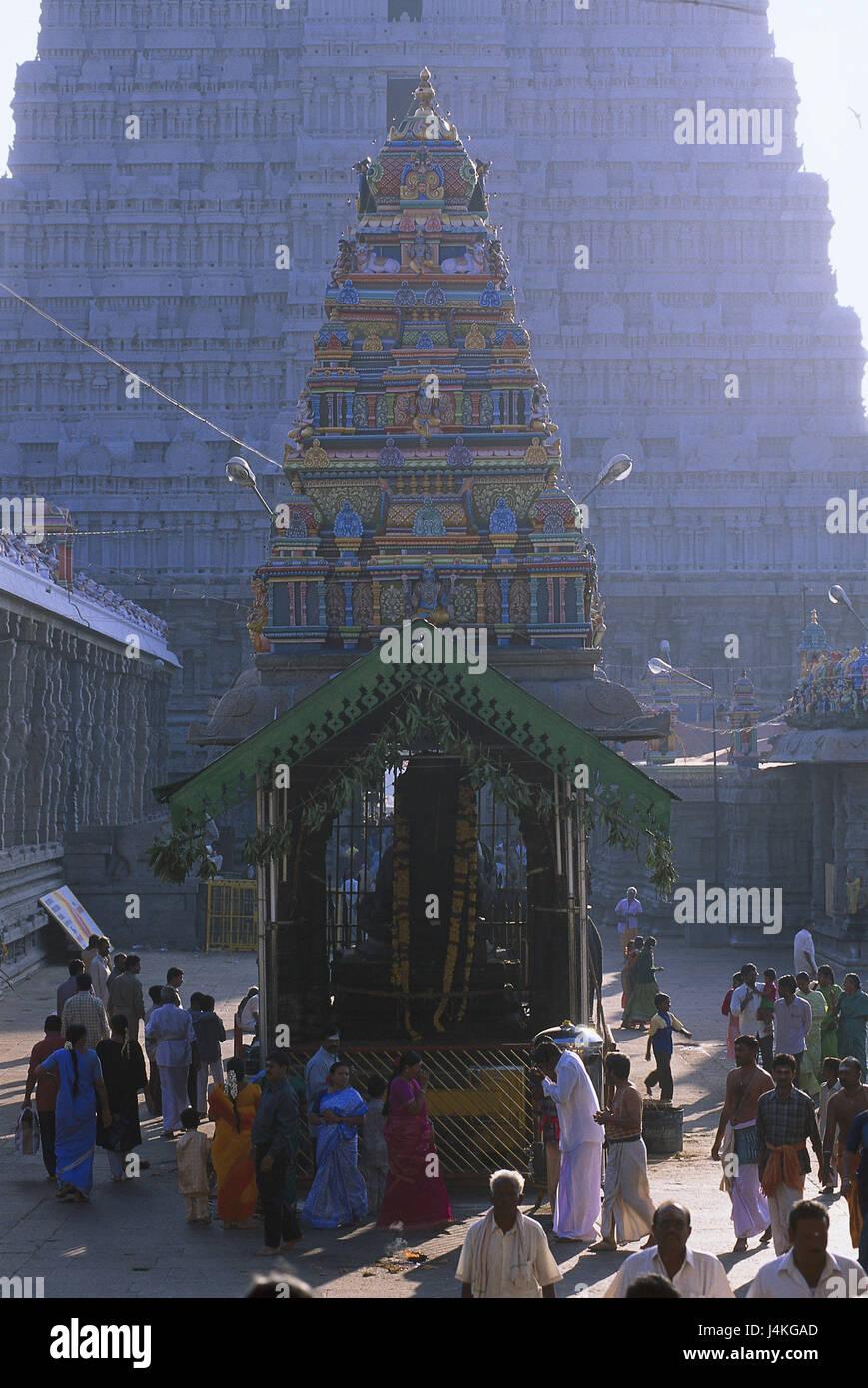 India, Tamil Nadu, Tiruvannamalai temple, pagoda, religious Asia, South Asia, Hindi Bharat, Südindien, faith, - Stock Image