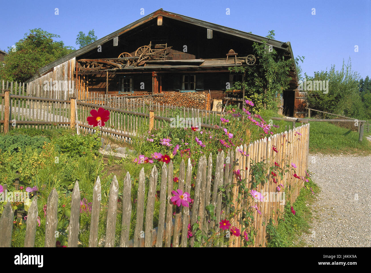 Germany Upper Bavaria Glentleitn Open Air Museum Wooden House Cottage Gardens Summers Europe Farmhouse Residential