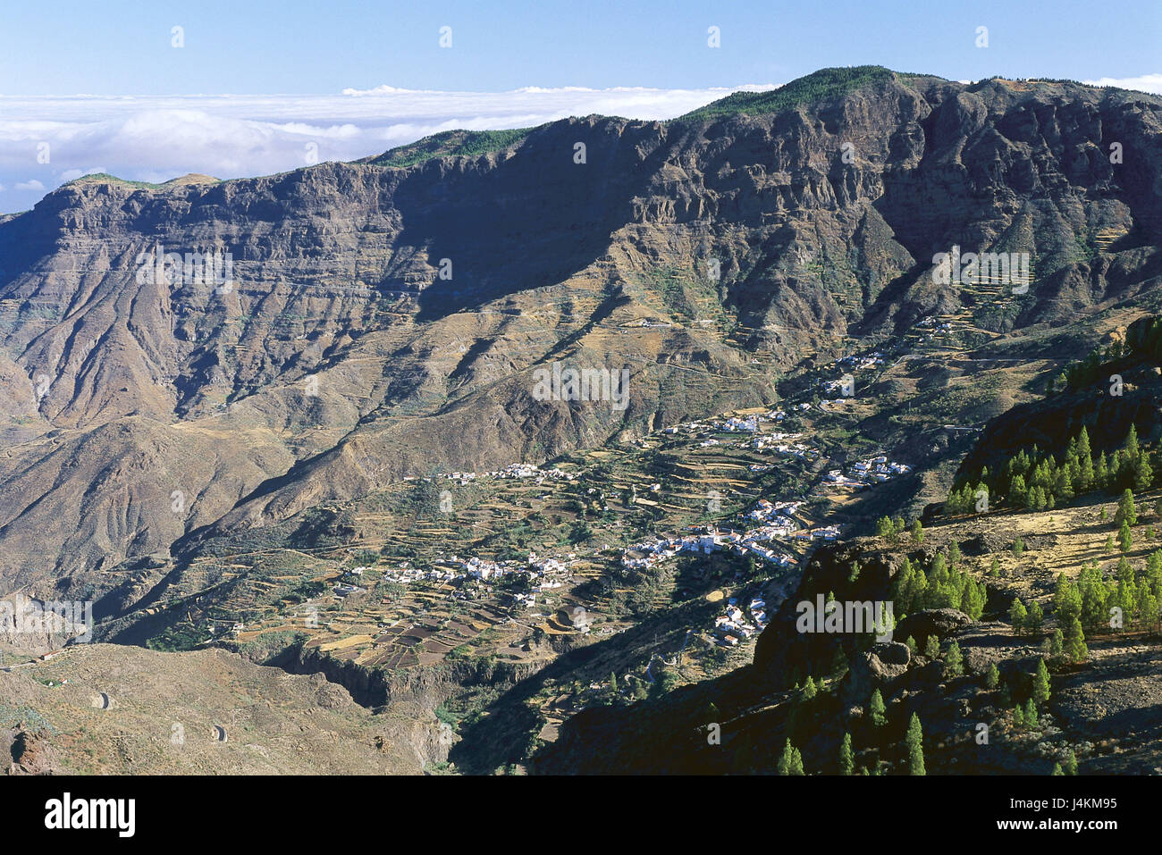 Spain, island grain Canaria, Roque Nublo, mountain landscape, place Europe, Südwesteuropa, Iberian peninsula, Espana, Stock Photo