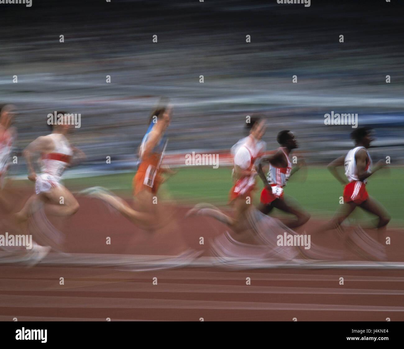 Dirt track, runner, motion, blur no model release athletics