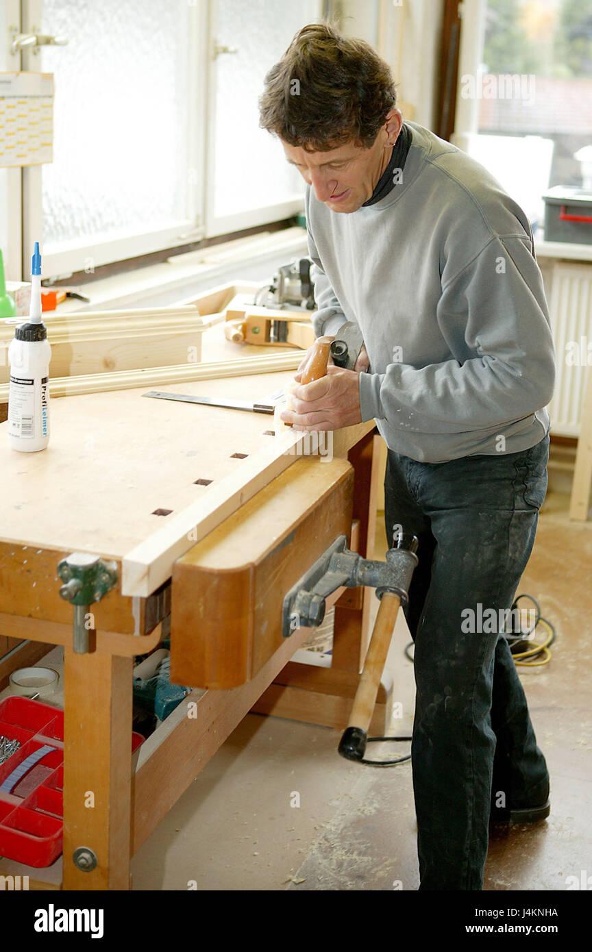 Peachy Carpenters Workshop Carpenters Bench Man Workpiece Bralicious Painted Fabric Chair Ideas Braliciousco