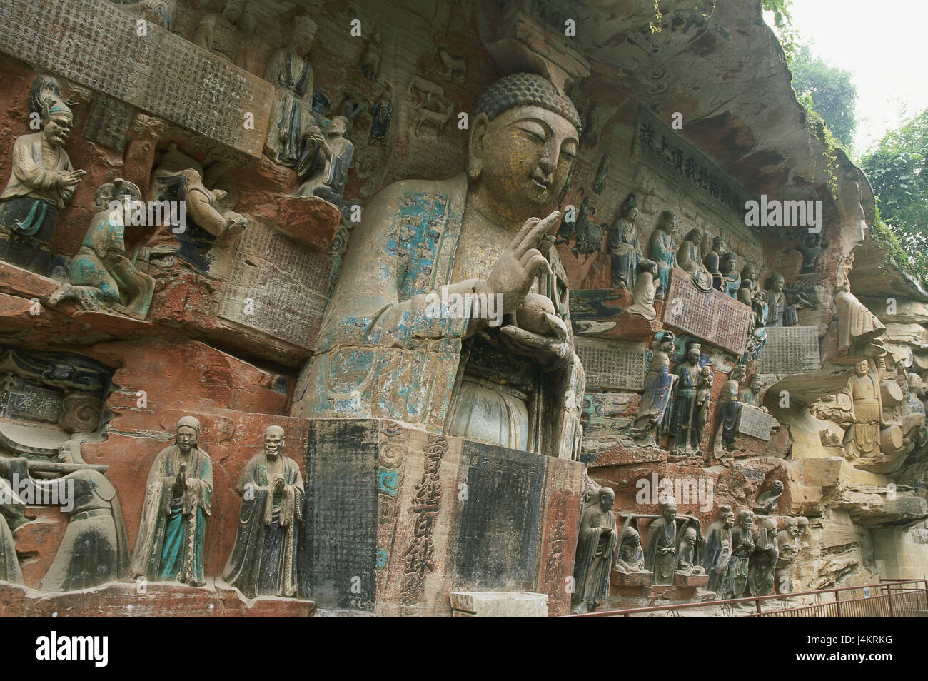 China, Chongqing province, In addition, Buddhist stone sculptures, Buddha Asia, Eastern Asia, place of interest, - Stock Image