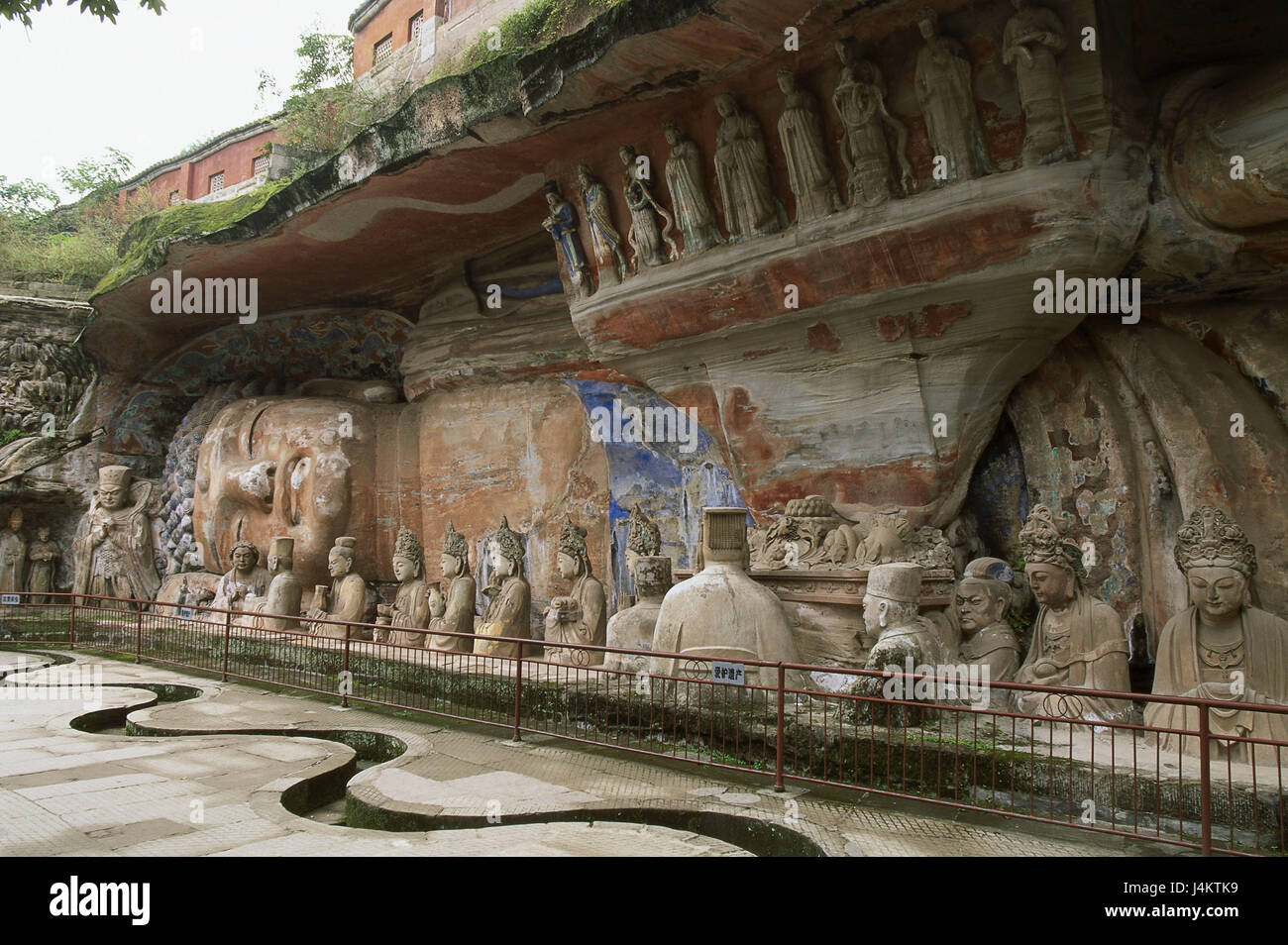 China, Chongqing Province, In addition, Buddha-Statue, lying Asia, Eastern Asia, place of interest, Buddha, statue, - Stock Image