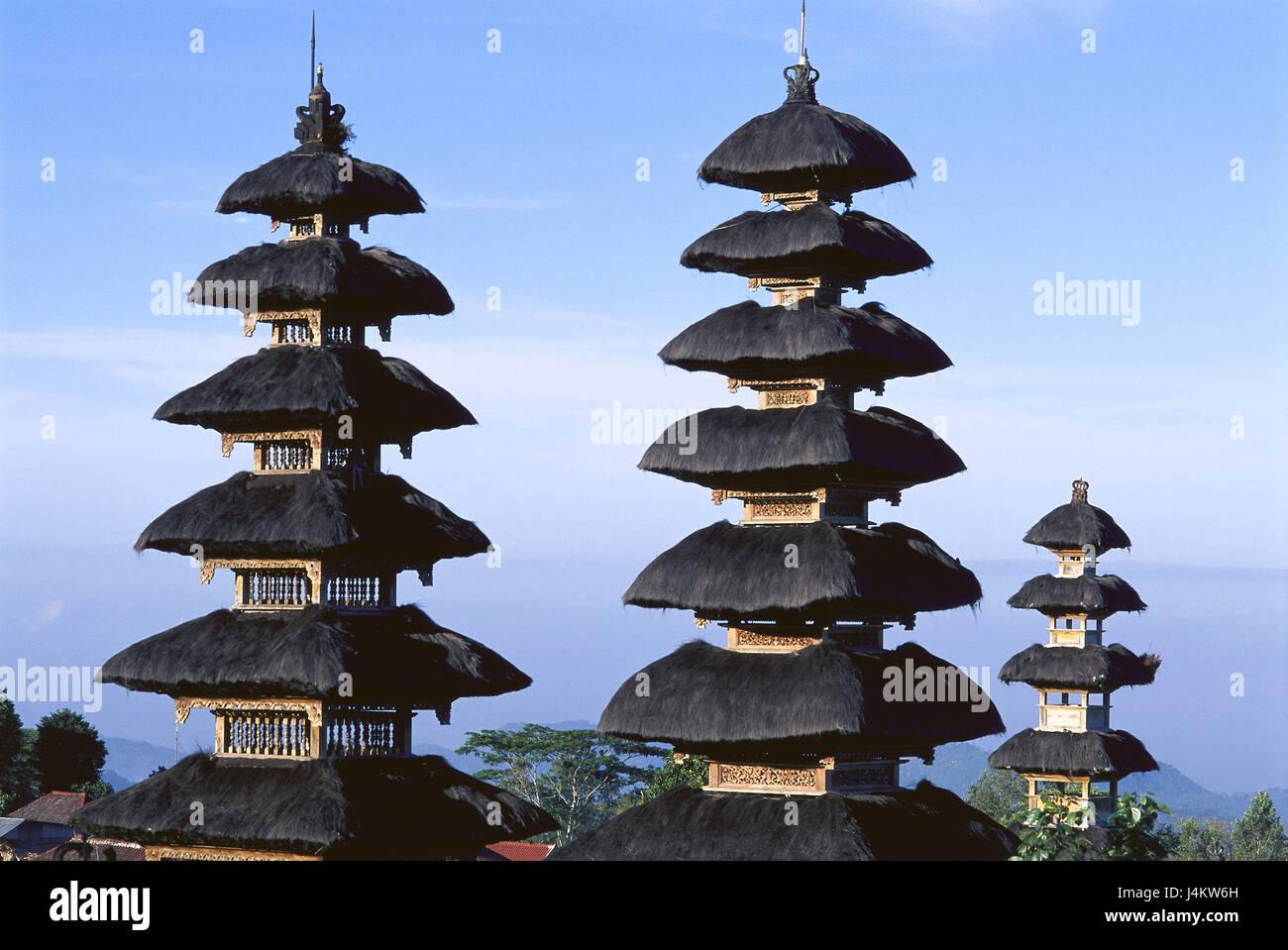 Indonesia, Bali, Pura Besakih, temple, detail Asia, South-East Asia, small Sundainseln, island, temple attachment, - Stock Image