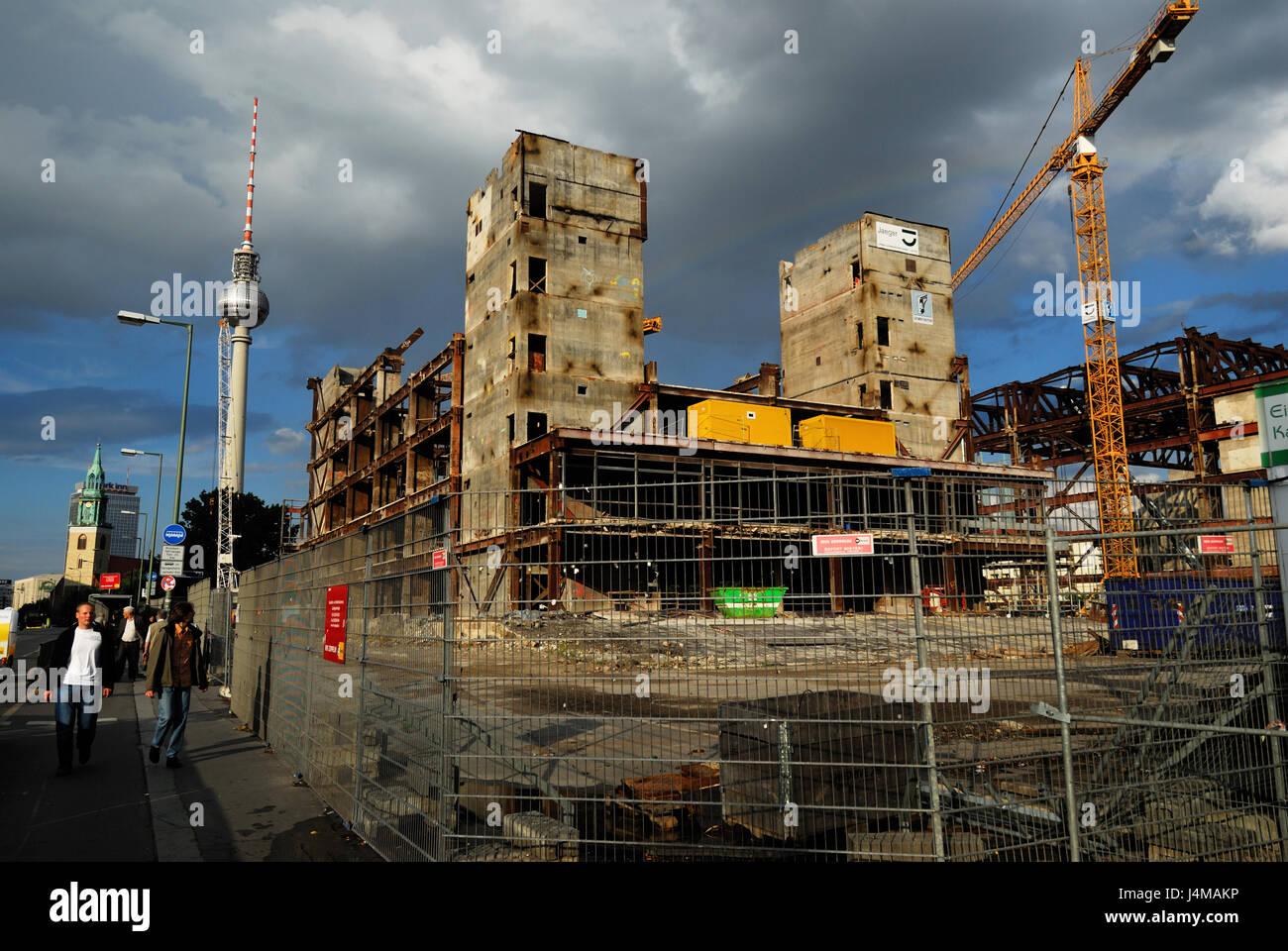 berlin, building, buildings, central, cladding, claddings, constructionPalast der Republik Mitte Palace of the Republic - Stock Image