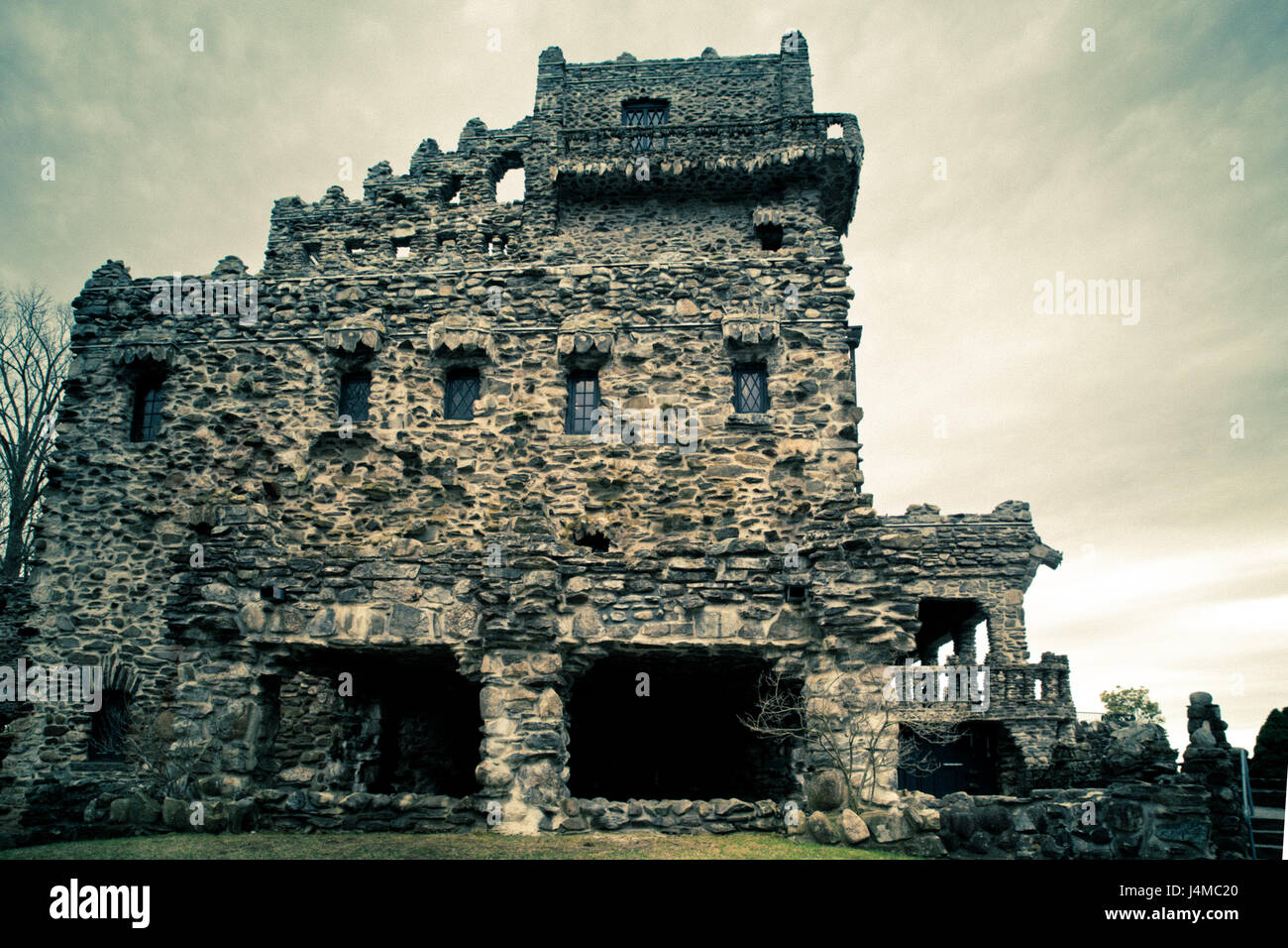 Historic Gillette Castile in East Haddam, Connecticut - Stock Image