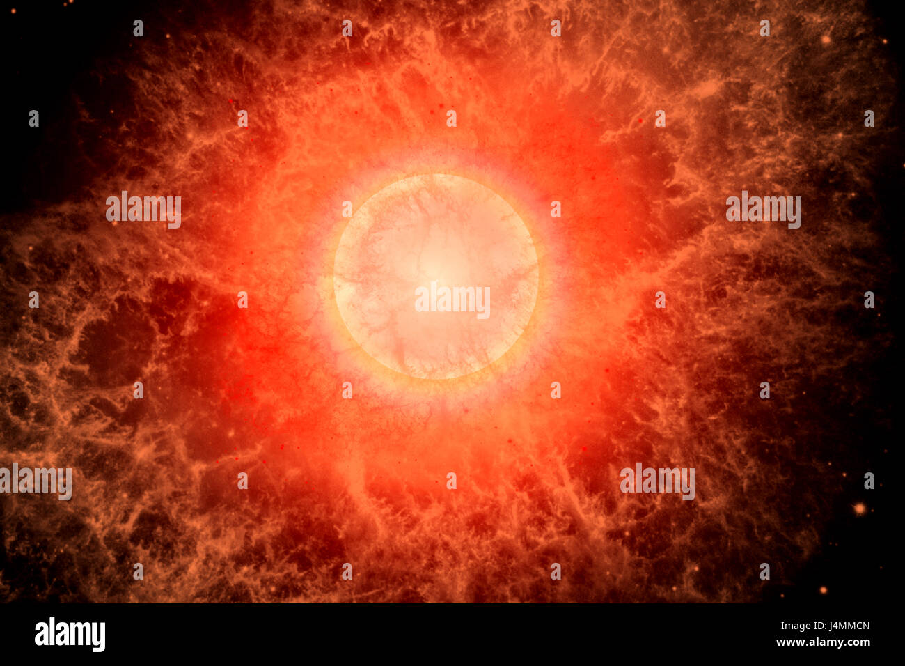 A Supernova, The End Of A Dying Star. - Stock Image