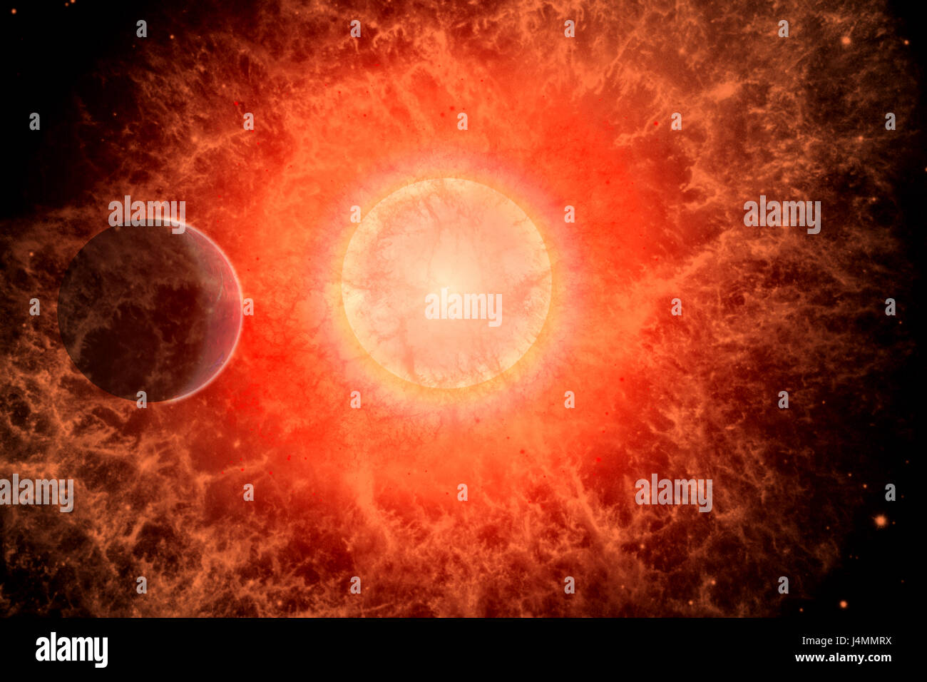 A Supernova , The End Of A Dying Star. - Stock Image