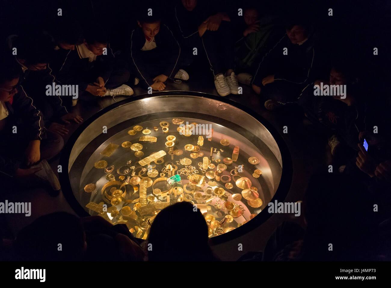 Gold Museum (El Museo del Oro) in Bogota, Colombia - Stock Image