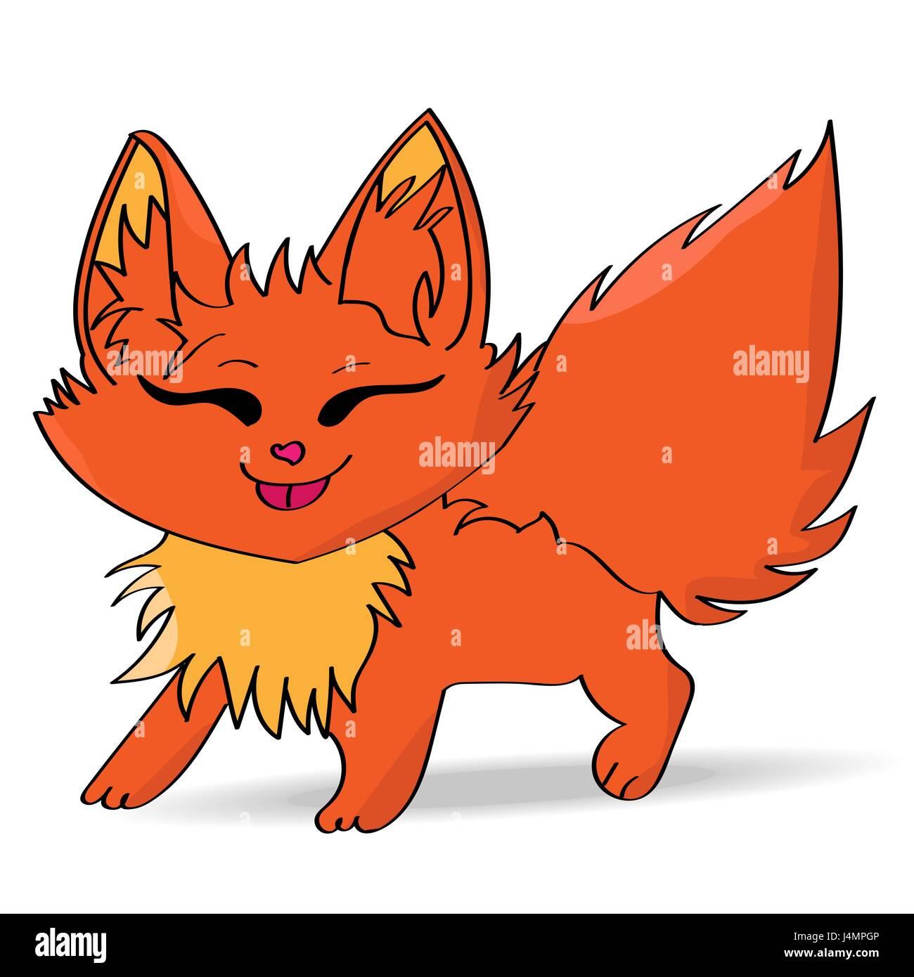 Cartoon Fox - Stock Vector