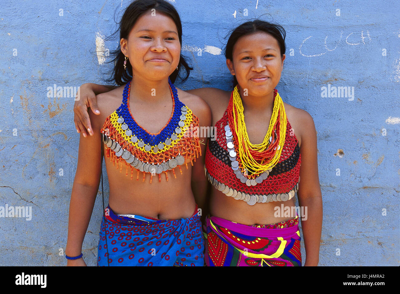 Panama, Chagres national park, Embera Indian, women, half portrait no model release Central America, Embera Indian, - Stock Image