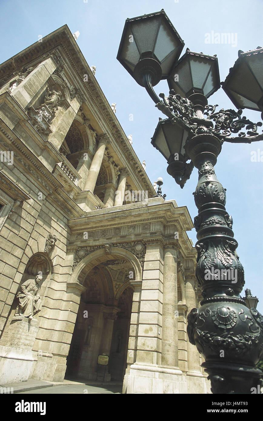 Hungary, Budapest, opera-house, lantern, detail Europe, Magyarország, Magyar Köztársaság, town, - Stock Image