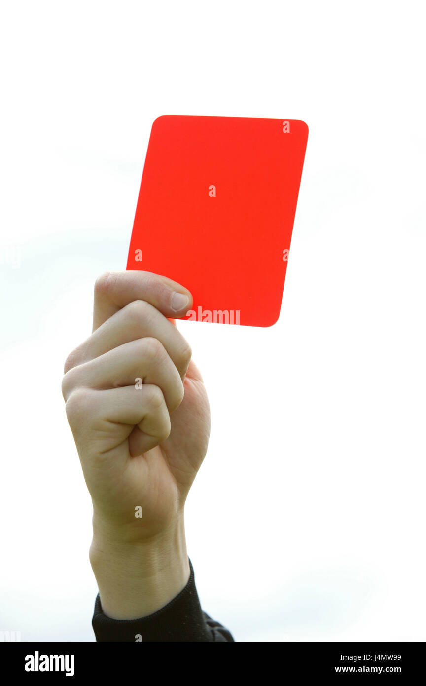Referee Detail Hand Card Red Show Football Match Arbitration Decision Judge Event Regulation Against The Rules Fairness
