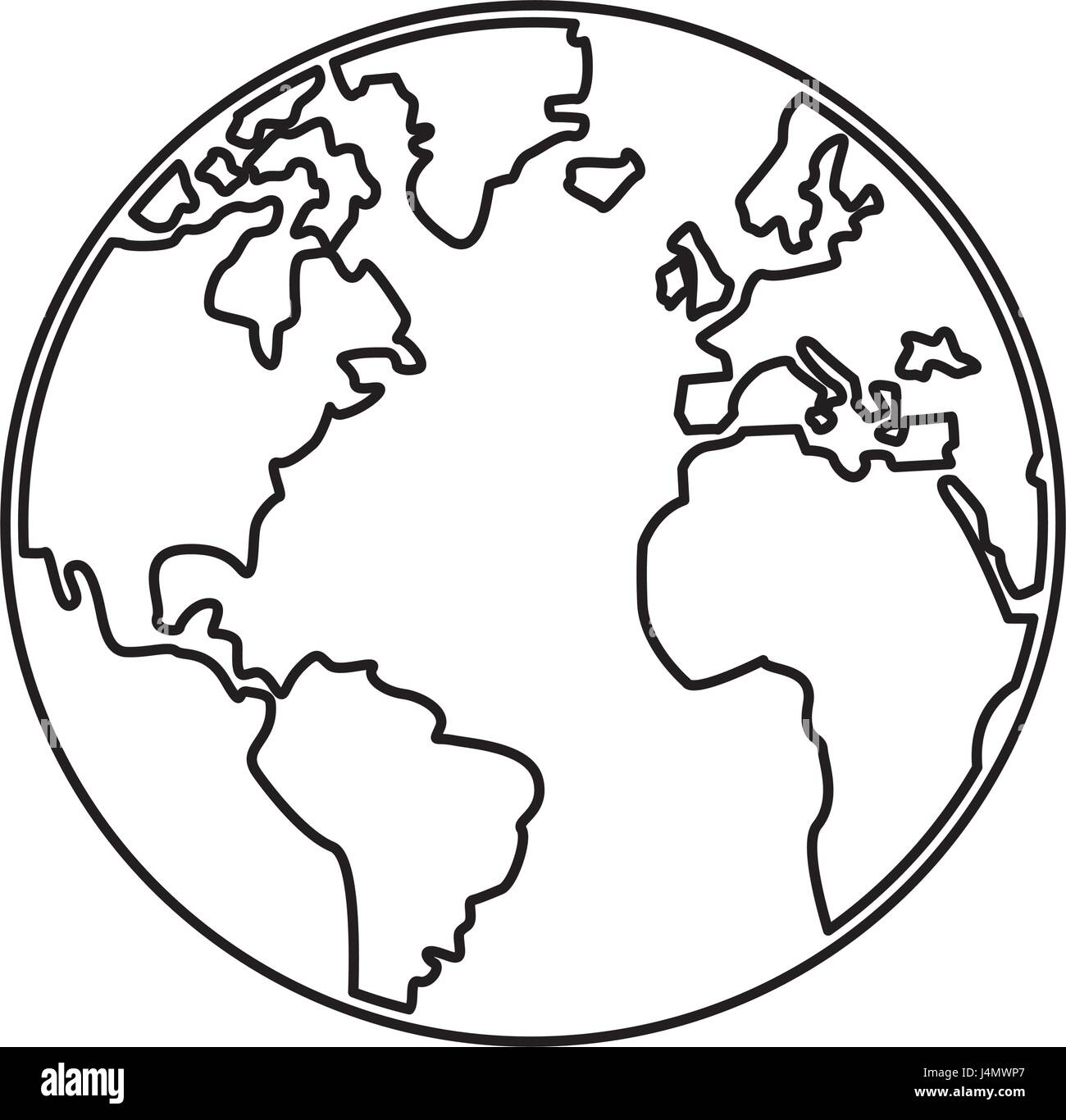 World map earth globes cartography continents outline stock vector world map earth globes cartography continents outline gumiabroncs Images