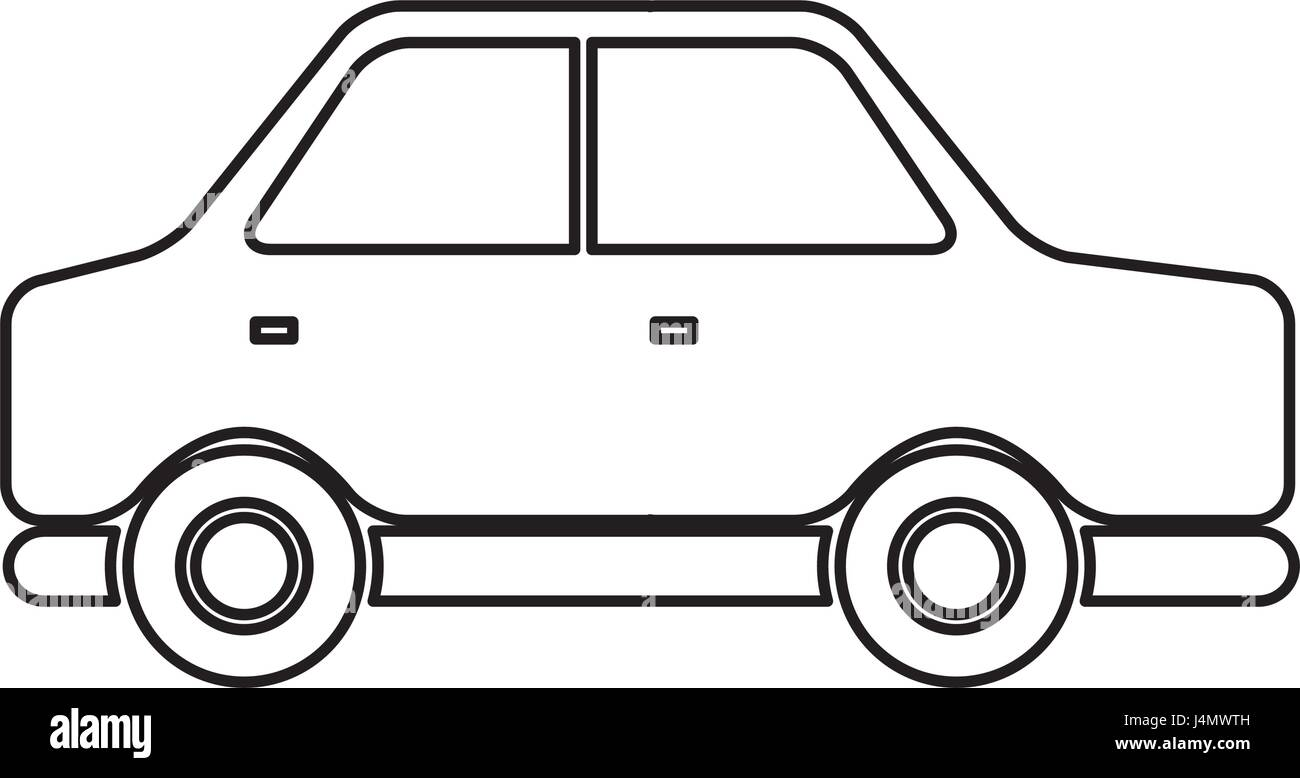 sedan car side, vehicle transport concept - Stock Image