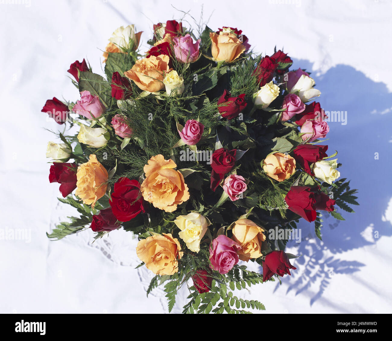 bunch of roses from above bouquet bunch flowers roses cut stock
