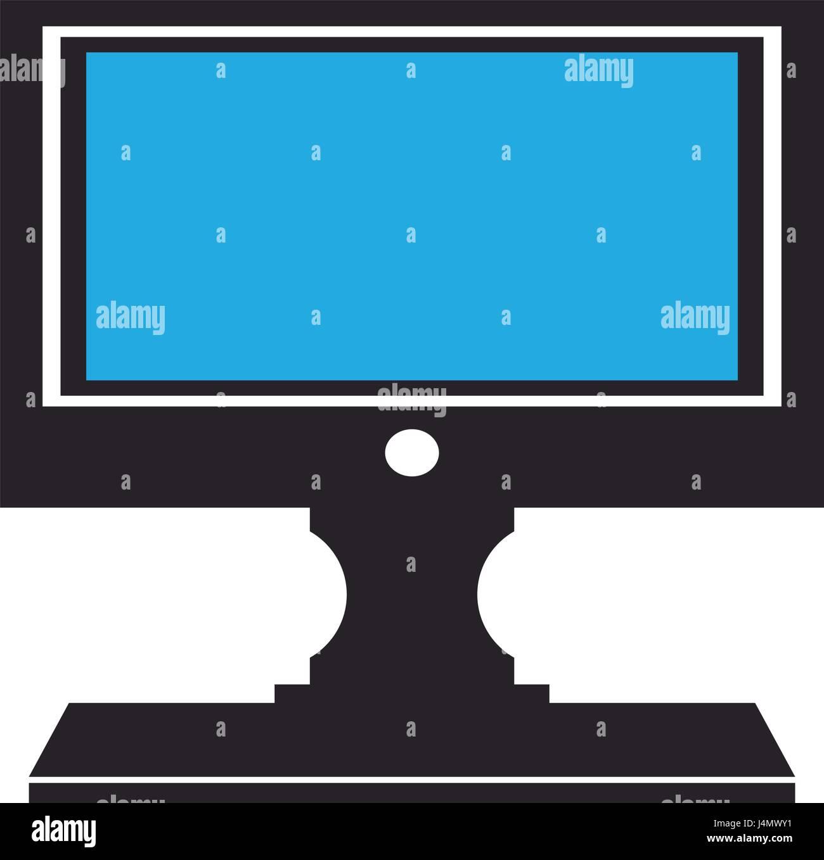Computer Conitor Icon Pc Desktop Display Symbol Stock Vector Art