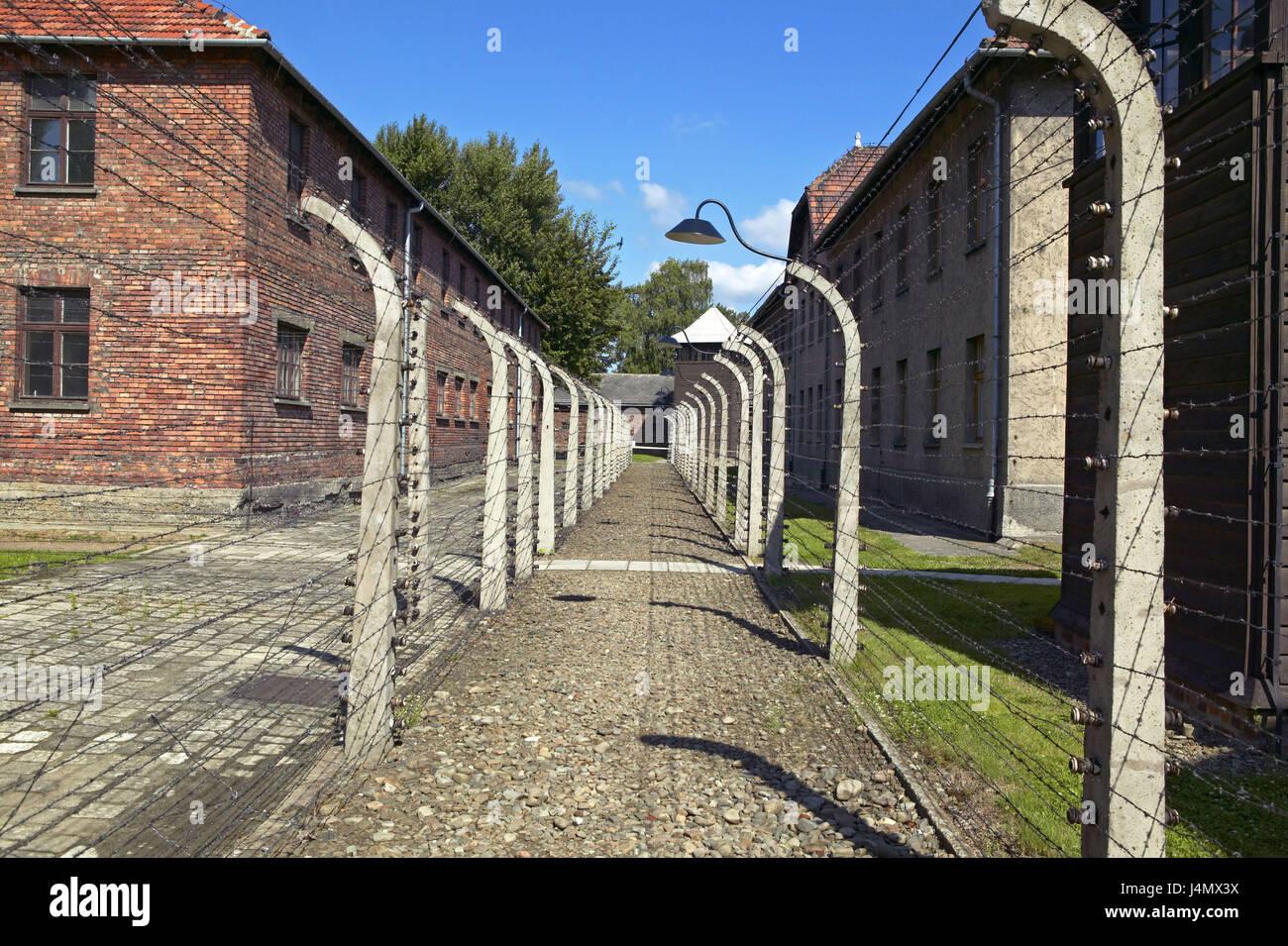 Poland Small Pole Auschwitz Concentration Camp Museum Fence Residential Wiring In Europe Barbed Wire Rzeczpospolita Polska Wojewdztwo Malopolskie Oswiecim Second World