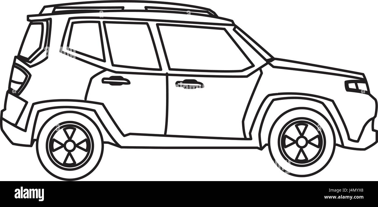 Suv Car Automobile Power Motor Outline Stock Vector Art