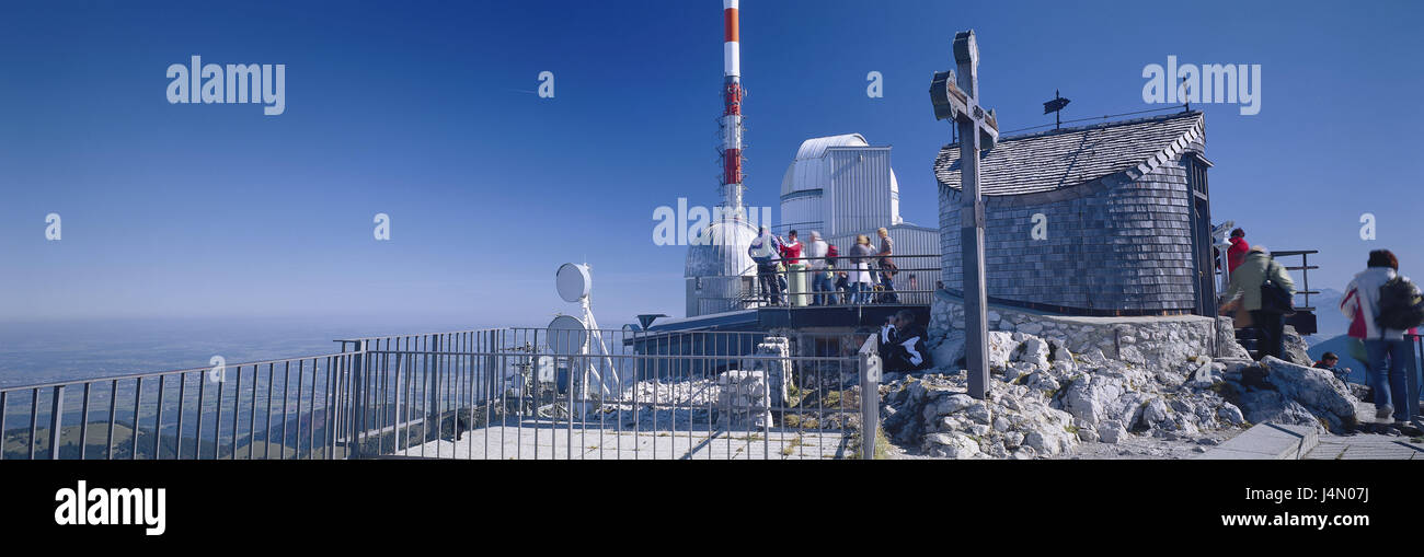 Germany, Bavaria, Bayrischzell, coil stone, summit, observatory, visitor, alps, mountains, mountains, Mangfallgebirge, - Stock Image