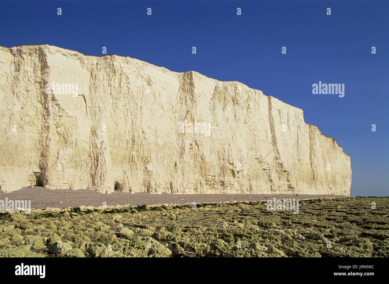 Great Britain, England, Sussex, Eastbourne, Seven Sisters, Beachy Head, rock, beach, - Stock Image