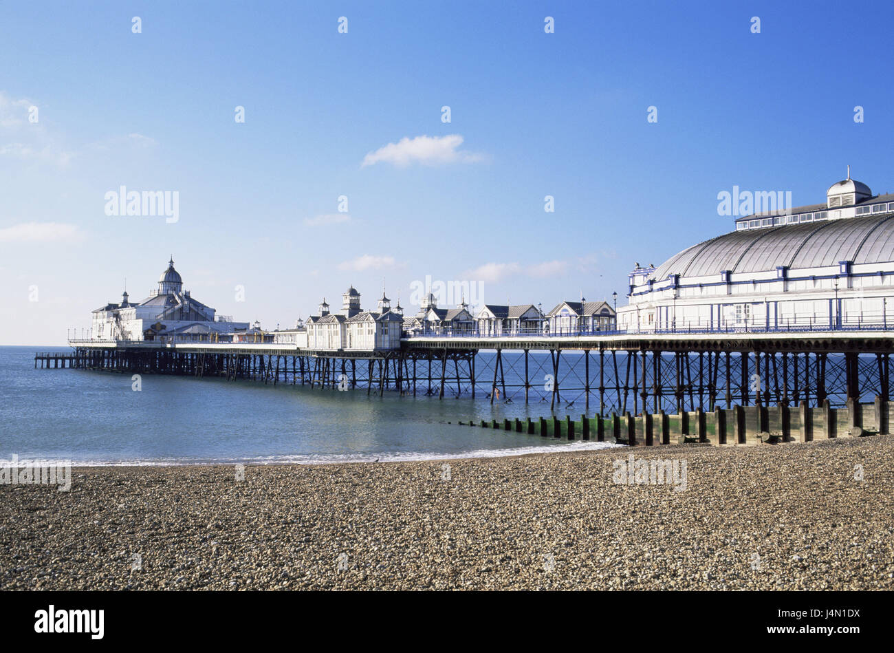 Great Britain, England, Sussex, Eastbourne, sea bridge, restaurants, south narrow country, sea, the Atlantic, pier, - Stock Image