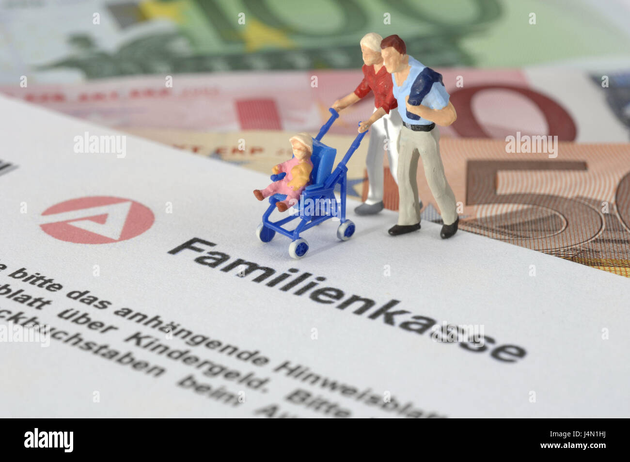 Form, family cash box, characters, family, child benefit, parental money, icon, application, request form, working - Stock Image