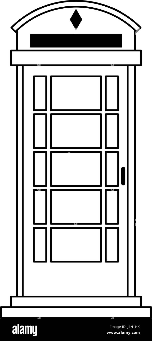 london phone booth icon image  - Stock Image