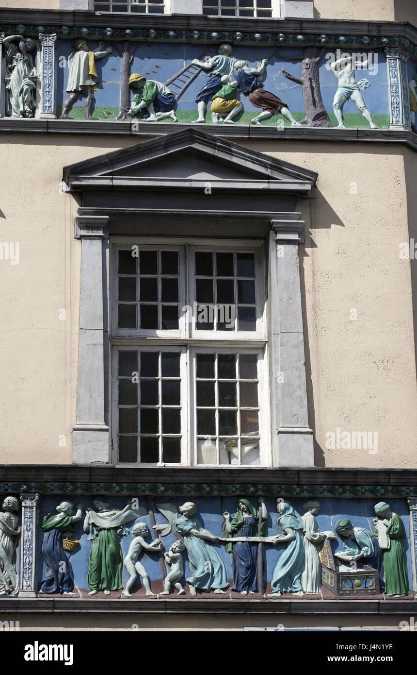 Ireland, Leinster, Dublin, Parliament Street, Stock Photo