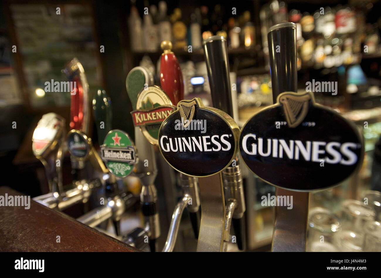 Ireland, Connacht, Galway county, Galway, Zapfhahn, - Stock Image